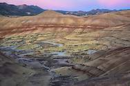 USA, Oregon, Wheeler County, Mitchell, Day Fossil Beds National Monument, Painted Hills