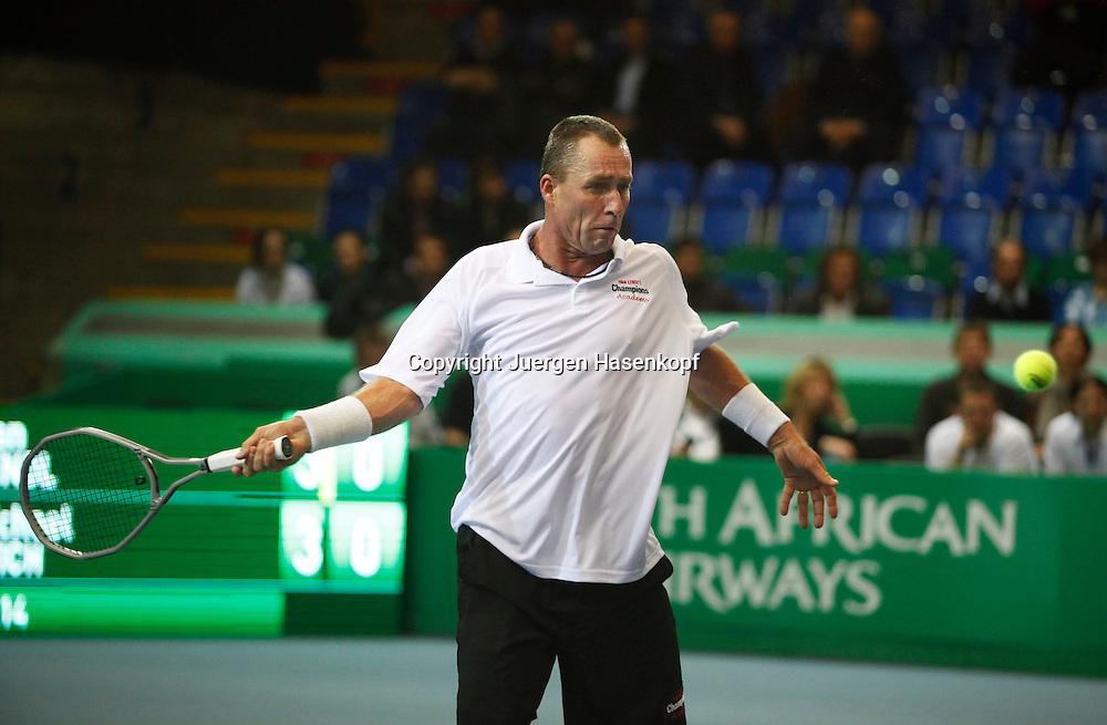 Zurich Open 2011 in der Saalsporthalle,Zuerich,.Schweiz, Herren Tennis,HallenTurnier, Champions Tour, Michael Stich (GER),action