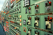 Control panel in the control room of Indian Point Nuclear Power Plant.