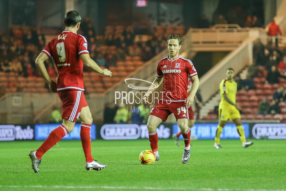 Middlesbrough midfielder Adam Forshaw  during the Sky Bet Championship match between Middlesbrough and Burnley at the Riverside Stadium, Middlesbrough, England on 15 December 2015. Photo by Simon Davies.