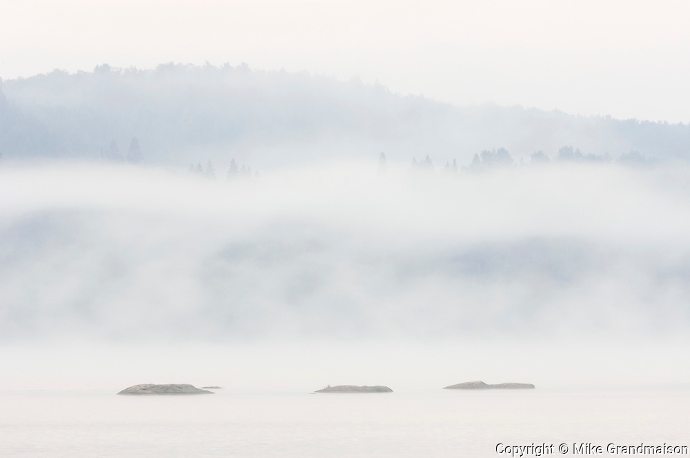 Fog on Lake of Two Rivers<br />