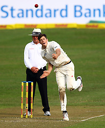Mitchell Santner during day one of the first test match between South Africa and New Zealand held at the Kingsmead stadium in Durban, KwaZulu Natal, South Africa on the 19th August 2016<br /> <br /> Photo by:   Anesh Debiky / Real Time Images