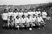 Dublin team before the All Ireland Senior Gaelic Football Championship Final Dublin V Galway at Croke Park on the 22nd September 1974. Dublin 0-14 Galway 1-06.