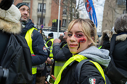 Act 12 of yellow vests protest at the place Feix Eboue in Paris, France, on February 02, 2019. Photo by Serge Tenani/Avenir Pictures/ABACAPRESS.COM