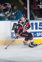 KELOWNA, CANADA - FEBRUARY 14: Jack Rodewald #15 of Moose Jaw Warriors skates against the Kelowna Rockets on February 14, 2015 at Prospera Place in Kelowna, British Columbia, Canada.  (Photo by Marissa Baecker/Shoot the Breeze)  *** Local Caption *** Jack Rodewald;