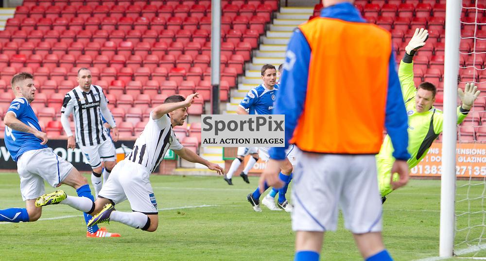 Dunfermline Athletic v Stranraer SPFL League One Season 2015/16 East End Park 29 August 2015<br /> Jason Talbot heads in to make it 2-0<br /> CRAIG BROWN | sportPix.org.uk