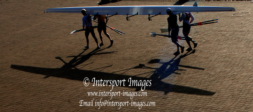 2005 FISA World Cup, Dorney Lake, Eton, ENGLAND, 24.05.05. .Pictures of the boat house and from the boat house balcony over the course and area in front of the boathouse. Photo  Peter Spurrier.  email images@intersport-images...[Mandatory Credit Peter Spurrier/ Intersport Images] Rowing Course, Dorney Lake Sunrise, Sunsets, Silhouettes