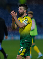 Football - 2019 / 2020 Emirates FA Cup - Fourth Round: Burnley vs. Norwich City<br /> <br /> Goalscorer Grant Hanley applauds the travelling Norwich City the Norwich City fans at the end of the game, at Turf Moor.<br /> <br /> COLORSPORT/ALAN MARTIN