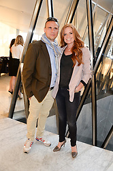 PATSY PALMER and her husband RICHARD MERKELL at the launch of the Odabash Macdonald Resort 2014 swimwear collection at ME Hotel, London on 25th June 2013.