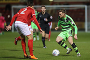 Forest Green Rovers Dayle Grubb(8) takes on Crewe Alexandra's Perry Ng(2) during the EFL Sky Bet League 2 match between Crewe Alexandra and Forest Green Rovers at Alexandra Stadium, Crewe, England on 20 March 2018. Picture by Shane Healey.