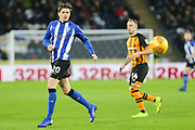 Sheffield Wednesday midfielder Adam Reach (20) in action during the EFL Sky Bet Championship match between Hull City and Sheffield Wednesday at the KCOM Stadium, Kingston upon Hull, England on 12 January 2019.