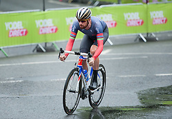 © Licensed to London News Pictures. 10/09/2016. Bristol, UK. The Tour of Britain cycle race 2016. Picture of SIR BRADLEY WIGGINS doing the time trial. Photo credit : Simon Chapman/LNP