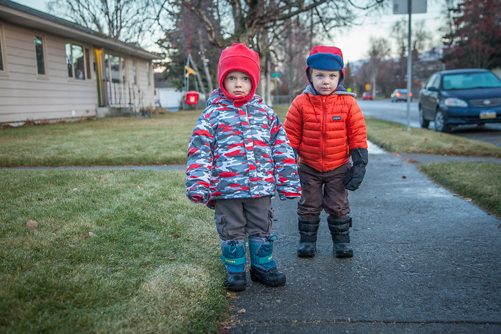 Two year olds, Tucker and Isaac, Anchorage