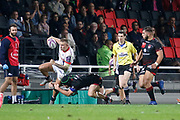 Mark Jennings to Sale and Liam Gill to LOU during the European Rugby Challenge Cup, Pool 2, between Lyon OU and Sale Sharks on October 20, 2017 at Matmut stadium in Lyon, France - Photo Romain Biard / Isports / ProSportsImages / DPPI