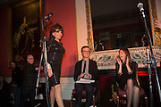 JOAN COLLINS; ARTHUR HOUSE; LUCY BERESFORD, The Literary Review Bad Sex in Fiction Award 2013. The In and Out Club, 4 St. james's Sq. London. 3 December 2013