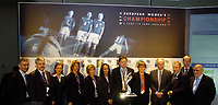 Fotball<br /> England 2004/22005<br /> Foto: SBI/Digitalsport<br /> NORWAY ONLY<br /> <br /> UEFA European Women's Championship 2005 Draw, 18/01/2005.<br /> <br /> Coaches and special guests.