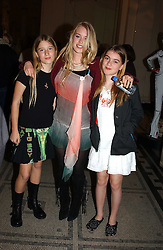 Left to right, PHEONIX HILL-RICHMOND, MARY CHARTERIS and CLAUDIA GUINNESS at a party to celebrate the publication of  'Put On Your Pearl Girls!' by Lulu Guinness held at the V&A museum, London on 5th May 2005.<br /><br />NON EXCLUSIVE - WORLD RIGHTS