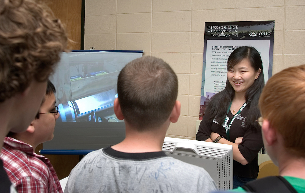 Thursday, May 12, for the Student Research and Creative Activity Fair at the Convo Center...Rui Huang, Ph.D Student in Electrical Engineering