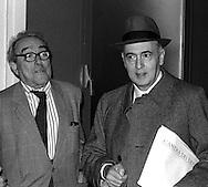 Roma 1986.Giorgio Napolitano (Partito Comunista Italiano)  e Vittorio Foa .