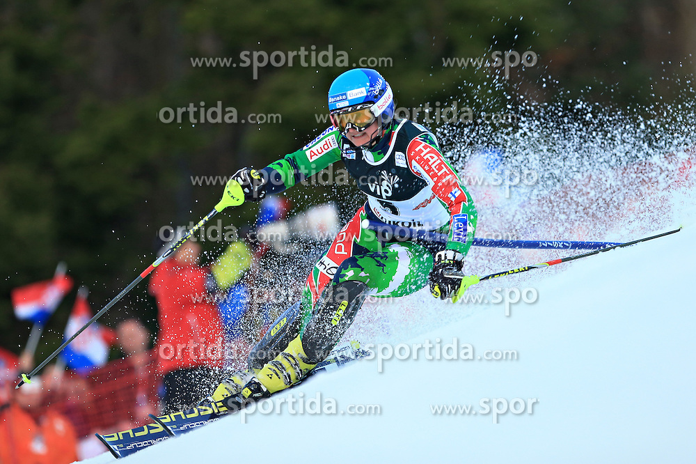 04.01.2013, Crveni Spust, Zagreb, AUT, FIS Ski Alpin Weltcup, Slalom, Damen, 1. Lauf, im Bild Tanja Poutiainen (FIN) // Tanja Poutiainen of Finland in action // during 1st Run of the ladies Slalom of the FIS ski alpine world cup at Crveni Spust course in Zagreb, Croatia on 2013/01/04. EXPA Pictures © 2013, PhotoCredit: EXPA/ Pixsell/ Slavko Midzor..***** ATTENTION - for AUT, SLO, SUI, ITA, FRA only *****
