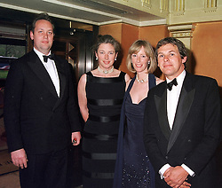 Left to right, MR & MRS CHARLES PETTIFER, she was Tiggy Legge-Bourke, her sister MRS ZARA<br />  PLUNKET-ERNLE-ERLE-DRAX and MR CHARLES GORDON-WATSON, at a party in London on 9th May 2000.ODR 40