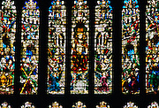 King's College Chapel Stained Glass Window, Cambridge Univeresity, United Kingdom