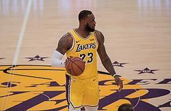 October 25, 2018 - Los Angeles, California, U.S - LeBron James #23 of the Los Angeles Lakers during their NBA game with the Denver Nuggets on Thursday October 25, 2018 at the Staples Center in Los Angeles, California. Lakers defeat Nuggets, 121-114. (Credit Image: © Prensa Internacional via ZUMA Wire)
