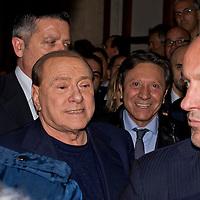 Silvio Berlusconi a Palazzo Grazioli dopo sentenza Ruby