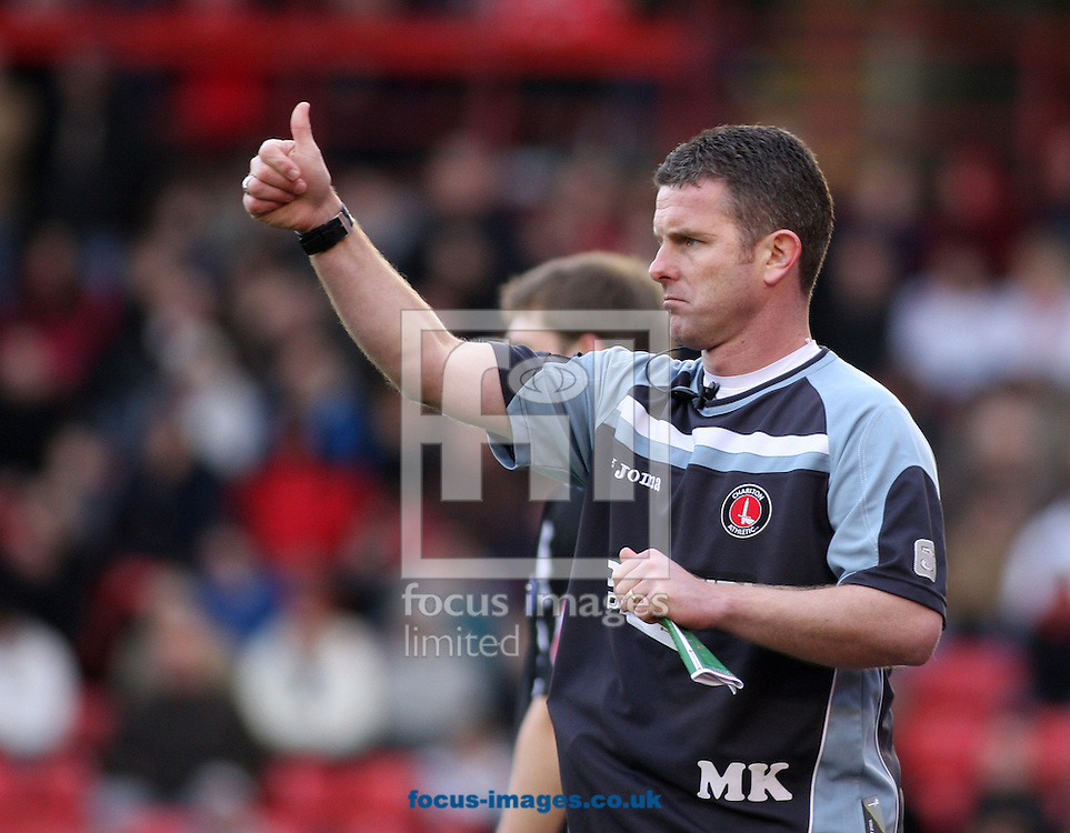 Barnsley - Saturday 21st February 2009 : Mark Kinsella the assistant manager of Charlton Athletic gives the thumbs's up during the Coca Cola Championship match at Oakwell, Barnsley. (Pic by Steven Price/Focus Images)