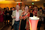 DAN TOPOLSKI; SUZY TOPOLSKI, Jumeirah Carlton Tower - 50th anniversary party<br /> Jumeirah Carlton Tower Hotel, Knightsbridge, London, SW1. 13 June 2011<br /> <br /> <br />  , -DO NOT ARCHIVE-© Copyright Photograph by Dafydd Jones. 248 Clapham Rd. London SW9 0PZ. Tel 0207 820 0771. www.dafjones.com.