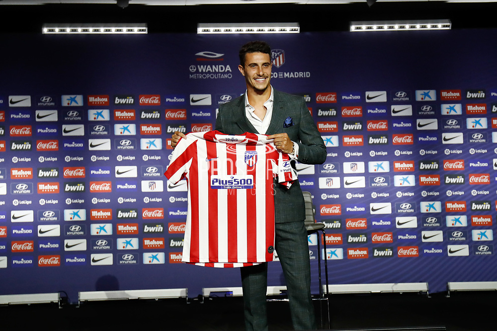 Mario Hermoso during his presentation as new player of Atletico Madrid on July 18, 2019 at Wanda Metropolitano stadium in Madrid, Spain - Photo Oscar J Barroso / Spain ProSportsImages / DPPI / ProSportsImages / DPPI