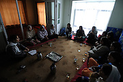 Malalai Joya meets regularly with underground womens groups and supporters hearing their concerns and encouraging them to be strong.  She spends most days surrounded by supporters and armed guards in numerous safe houses in Afghanistan.  Joya electrified the nation in 2003 when she spoke out in the Afghan Parliament against warlords and criminals in the government.  She was suspended for this insult even though some fellow Parliamentarians who called for her to be raped and killed remain in government.  Joya has survived four assassination attempts and Human Rights Watch has called for her reinstatement to Parliament.