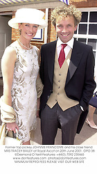 Former top jockey JOHNNIE FRANCOME and his close friend MRS TRACEY BAILEY at Royal Ascot on 20th June 2001. 	OPO 38