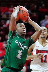 NORMAL, IL - December 16: Tyree Appleby and Josh Jefferson during a college basketball game between the ISU Redbirds and the Cleveland State Vikings on December 16 2018 at Redbird Arena in Normal, IL. (Photo by Alan Look)