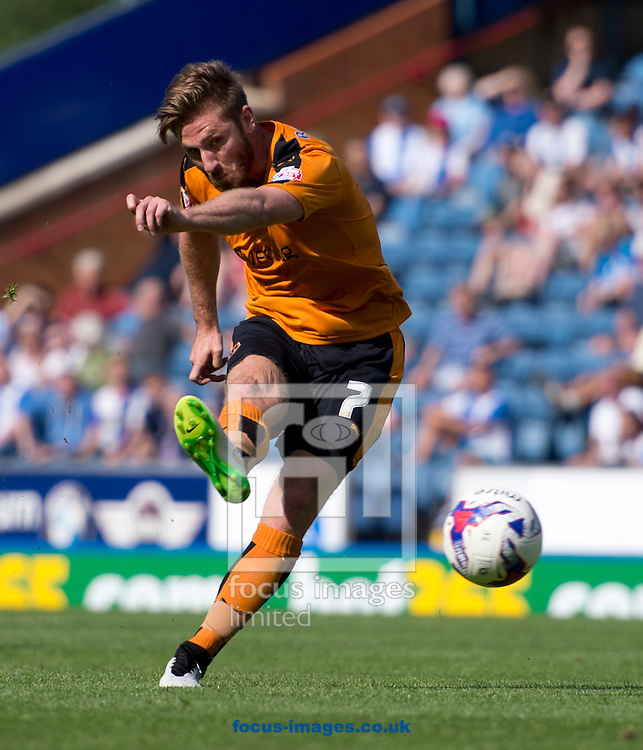 James Henry of Wolverhampton Wanderers hits a shot at goal during the Sky Bet Championship match at Ewood Park, Blackburn<br /> Picture by Russell Hart/Focus Images Ltd 07791 688 420<br /> 08/08/2015