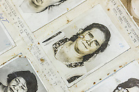 "A close up of a woman labelled ""delinquent"" in a police album containing hundreds of names and faces. Each photo represents a person who was processed by the former Guatemalan National Police. Many were later killed or disappeared during the civil war. Archivo Histórico de la Policía Nacional - Guatemala City"