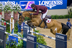 Sheikh Ali Al Thani Bin Khalid, QAT, First Devision<br /> World Cup Final Jumping - Las Vegas 2015<br /> © Hippo Foto - Dirk Caremans<br /> 17/04/2015