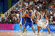 ATENE, 28 AGOSTO 2004<br /> OLIMPIADI ATENE 2004<br /> BASKET FINALE<br /> ITALIA - ARGENTINA<br /> NELLA FOTO: GIACOMO GALANDA<br /> FOTO CIAMILLO