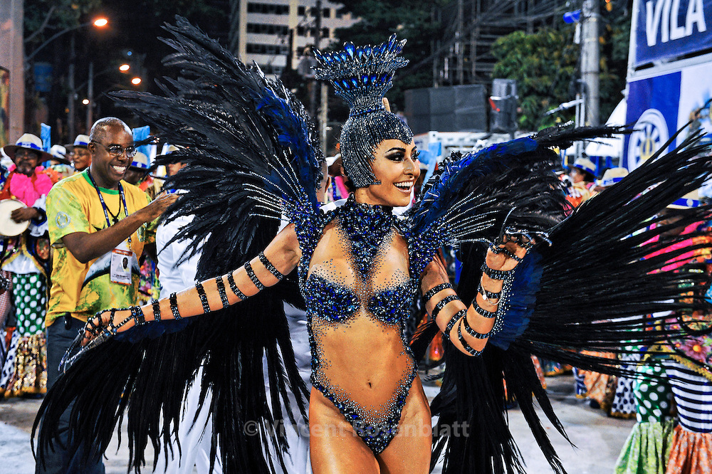 Sabrina Sato, TV journalist and entertainer; 'Rainha da Bateria' - Drum Queen of Visa Isabel Samba School - Champion of 2013 Carnival.