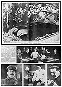 Spread of 'l'Humanite', Paris, 7 March 1953 reporting on the death of Joseph Stalin (1879-1953) Russian Communist dictator.