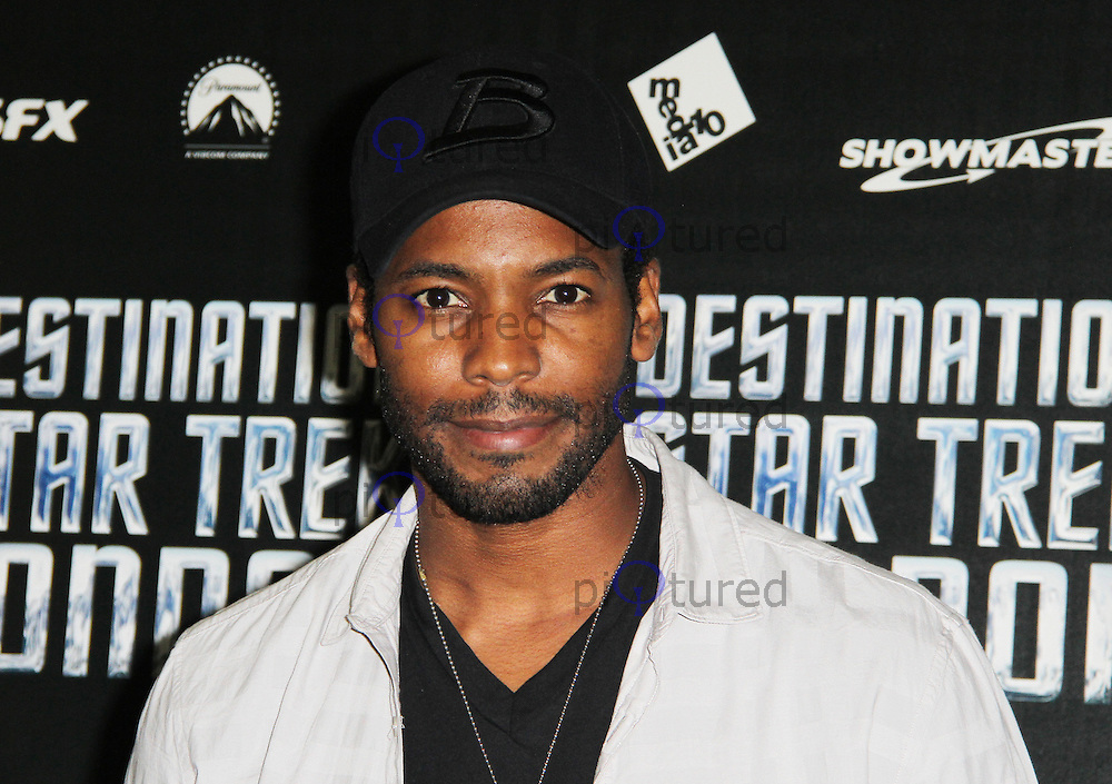 LONDON - OCTOBER 19:  Anthony Montgomery attended 'Destination Star Trek London' at the ExCel Centre London, UK, October 19, 2012. (Photo by Richard Goldschmidt)