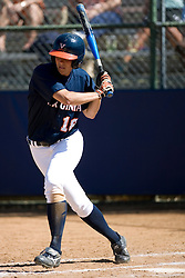 Virginia Cavaliers OF Meghan O'Leary (18) at bat against Towson.  The Virginia Cavaliers Softball team faced the Towson University Tigers on April 3, 2007 at The Park in Charlottesville, VA.