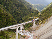 The highway 73 bridge at Arthur's Pass, built because of all of the avalanches over the previous road; New Zealand