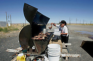 US-ARIZONA: Barbeque at a crossing in arisona. PHOTO GERRIT DE HEUS