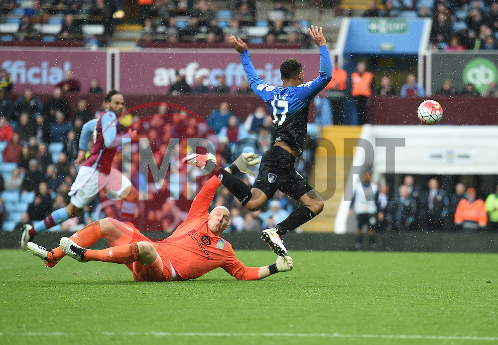 Joshua King of Bournemouth scores. - Mandatory by-line: Alex James/JMP - 09/04/2016 - FOOTBALL - Villa Park - Birmingham, England - Aston Villa v AFC Bournemouth - Barclays Premier League