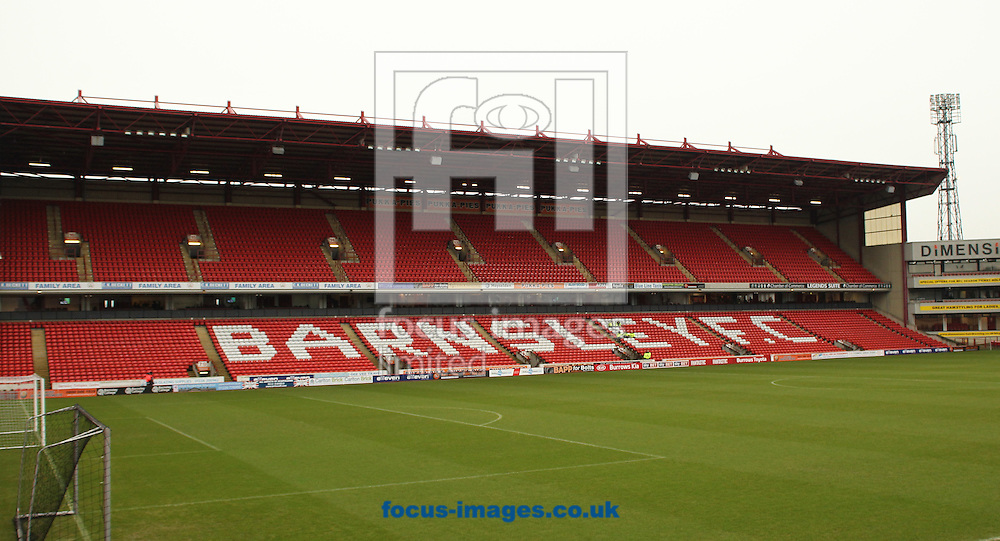 General Stadium view of Barnsley FC Oakwell Stadium ahead of there fixture against  Middlesbrough during The FA Cup match at Oakwell, Barnsley<br /> Picture by Stephen Gaunt/Focus Images Ltd +447904 833202<br /> 03/01/2015