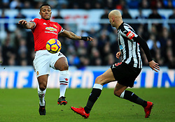 Luis Antonio Valencia of Manchester United and Jonjo Shelvey of Newcastle United - Mandatory by-line: Matt McNulty/JMP - 11/02/2018 - FOOTBALL - St James Park - Newcastle upon Tyne, England - Newcastle United v Manchester United - Premier League