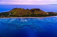 Aerial view, Vomo Island, Fiji Islands