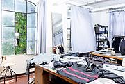 Leso, Novara province: Herno prototype clothing production.