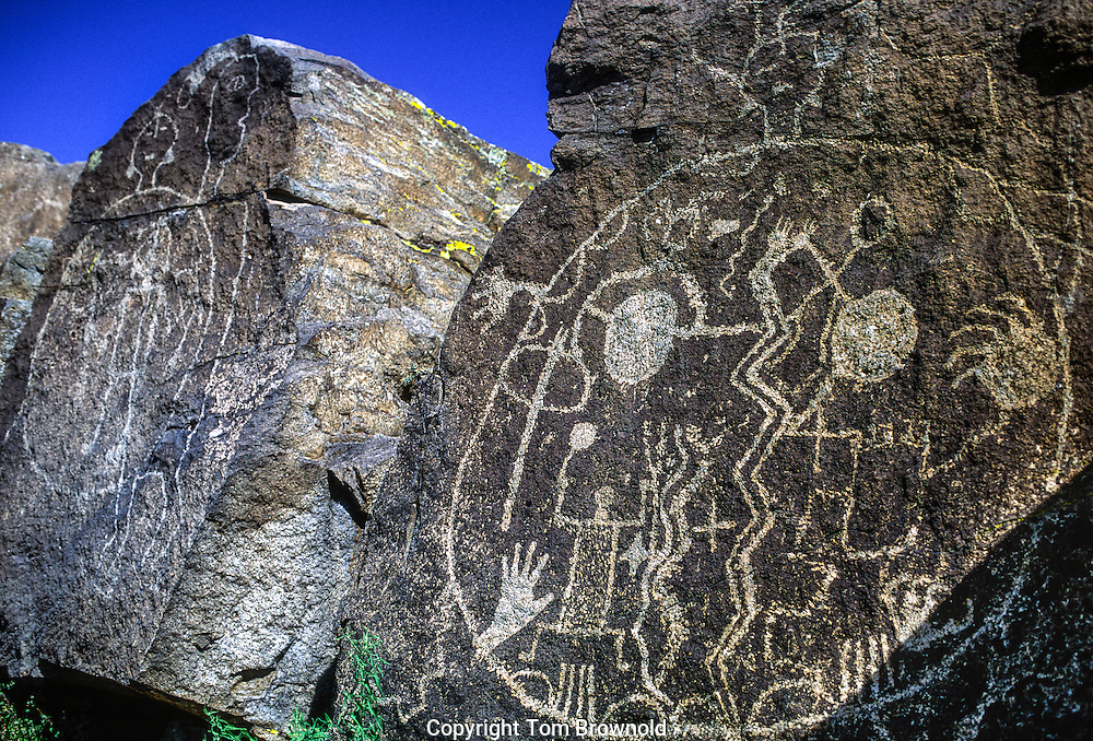 Spirit Being Petroglyph, Comanche Gap, Galisteo, NM